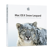 Mac OS X 10.6 Snow Leopard box