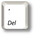 PC period delete keypad