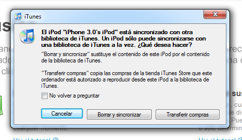 sincronizar ipod, ipad, etc con distintos ordenadores
