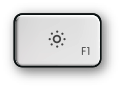 Mac F1 and brightness up key