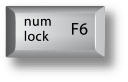 Mac F6 num lock key
