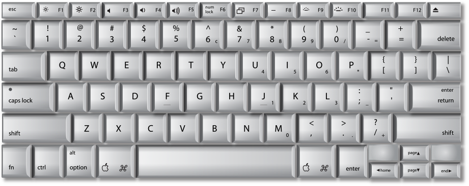 MacBook Pro built-in keyboard mapping in Windows