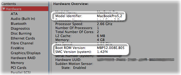 About this Mac with Model Identifier