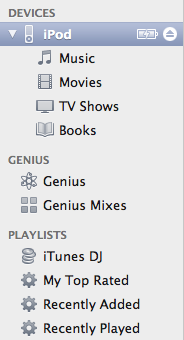 Adding a playlist to iPod