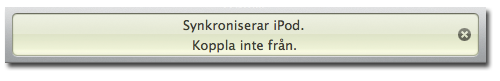 iTunes-display – synkronisering av iPod