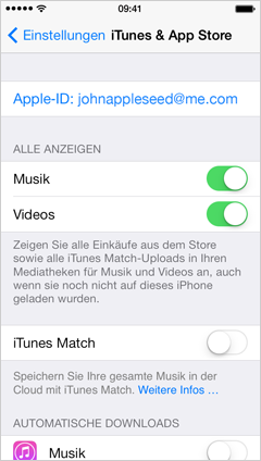 how to add apple id to iphone apple store