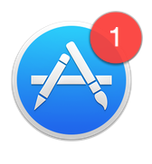 the App Store icon shows you how many updates are pending