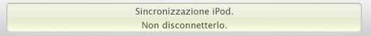 LCD iTunes: Sincronizzazione iPod