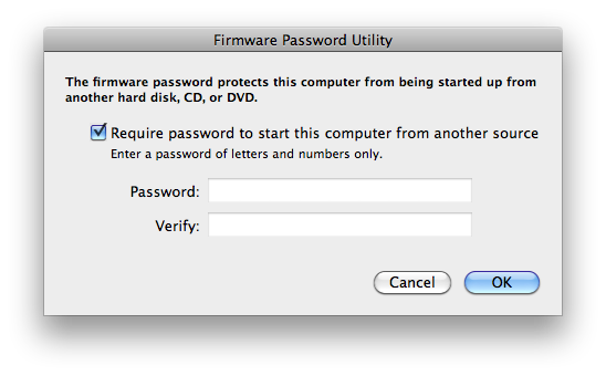 Get passwords In Open firmware