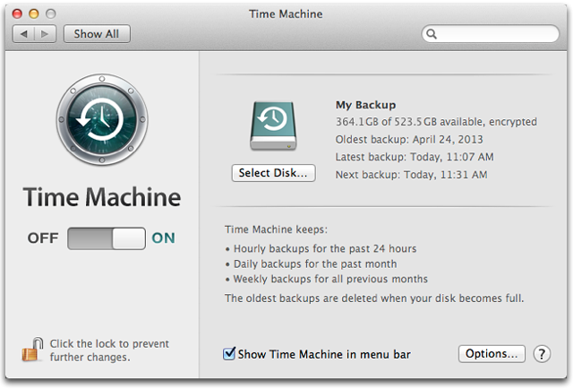 new mac time machine