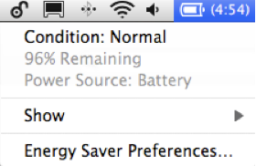 HT1446 OS10 6 x battery menu condition 001 en Maximizing your Apple laptop battery charge tips