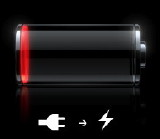 插入,电池电量低