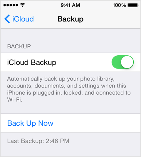 How to use icloud backup on iphone 6 64gb