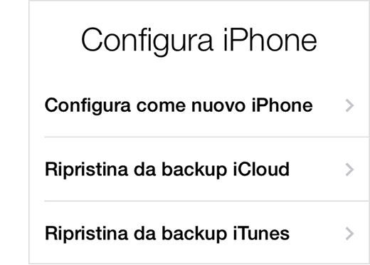 Configura l'iPhone