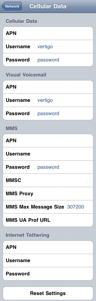 Cellular data settings on iPhone OS 3.x