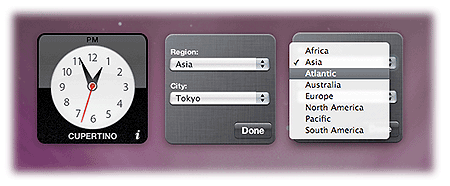 Knowledge - Mac OS X - The Dashboard: widgets and other mini