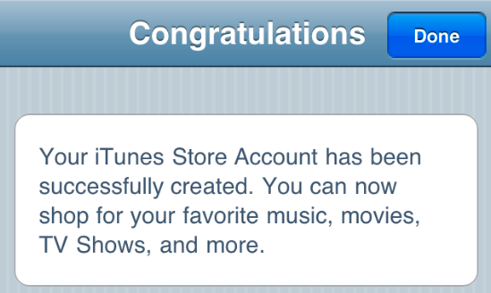 HT2534 12 - How to make an iTunes App Store account without a credit card