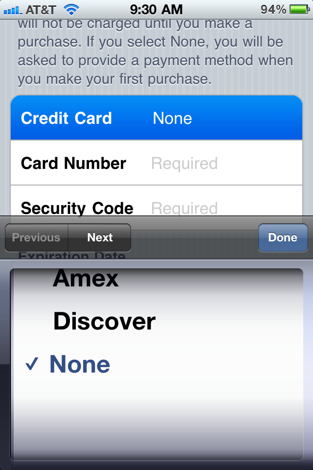 HT2534 9 - How to make an iTunes App Store account without a credit card