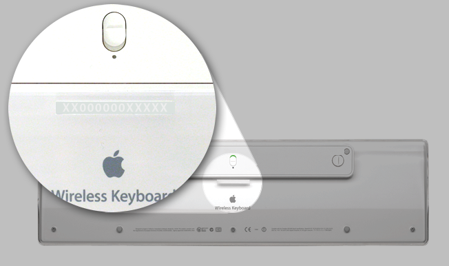 how to find apple keyboard serial number