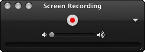 Screen recording window w/ red record button
