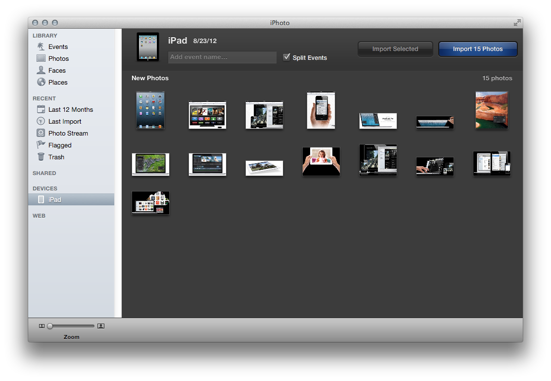 How to delete all photos from mac iphoto