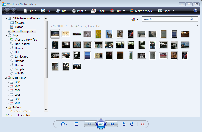import photos from iphone to windows 7