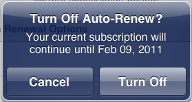 Turn off Auto-Renew? Cancel/Turn Off.