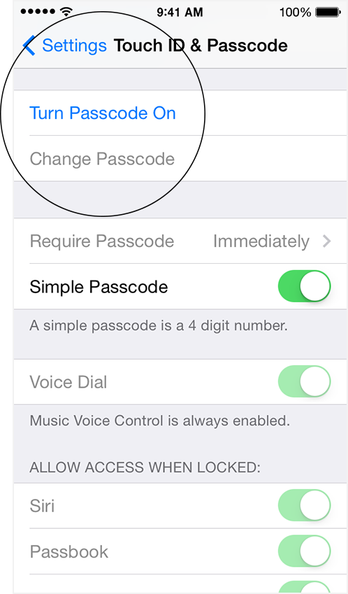 how to change your passcode on iphone 7