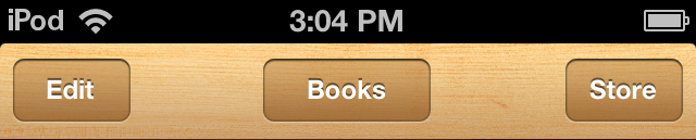 iBookstore button