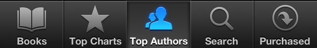 iBooks top authors button