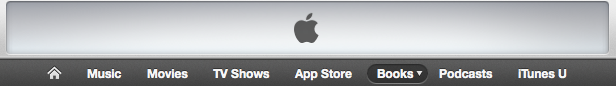 iTunes navigation bar