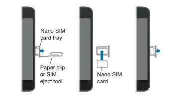 Removing the nano SIM on iPhone 5