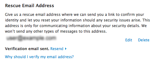 How do you change your rescue email address on apple id