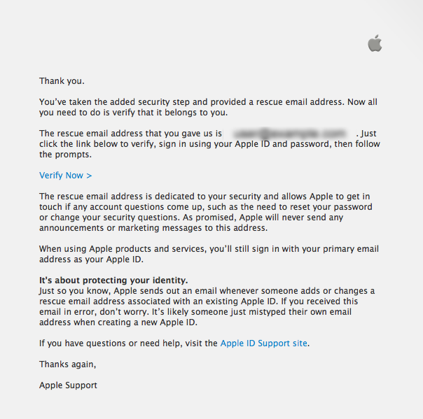 How do you set up a Rescue email address? | Official Apple Support ...