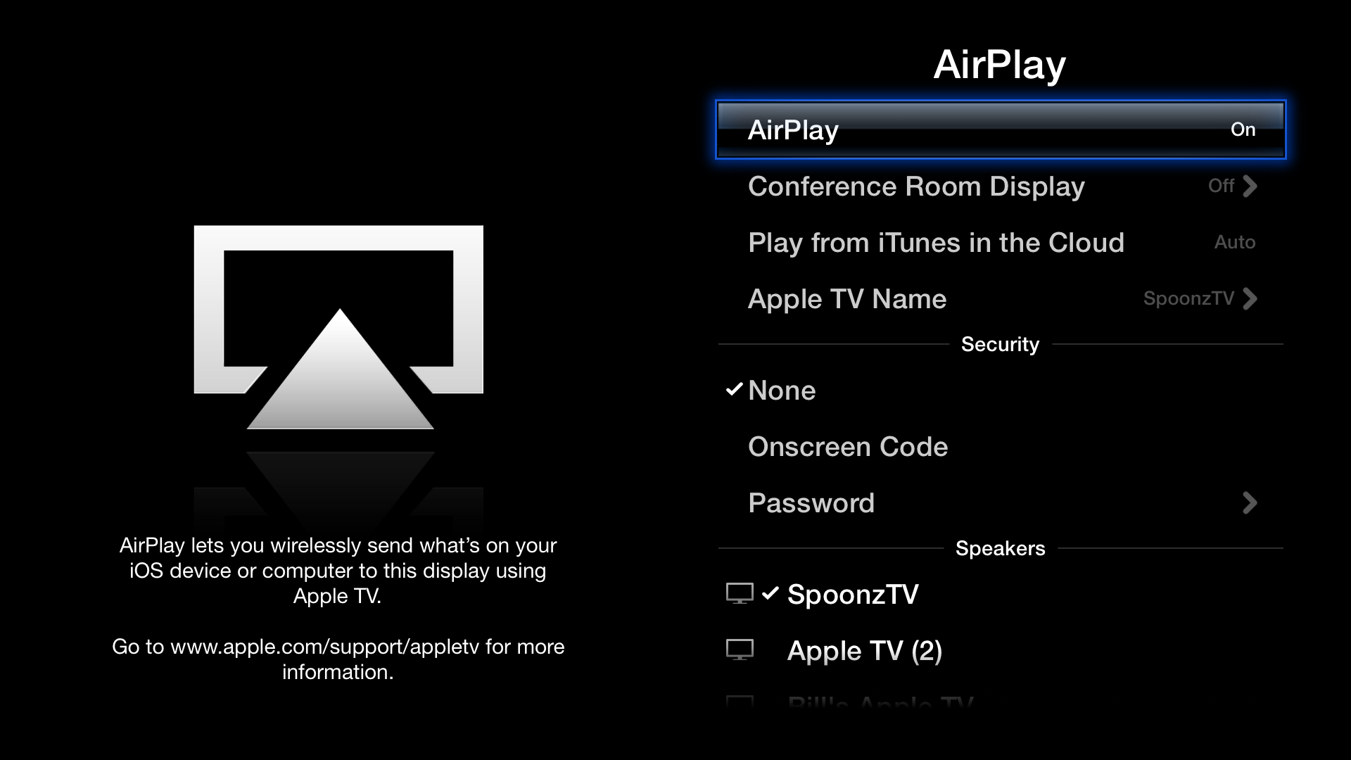 AirPlay Settings