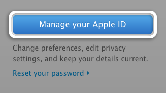Click Manage your Apple ID