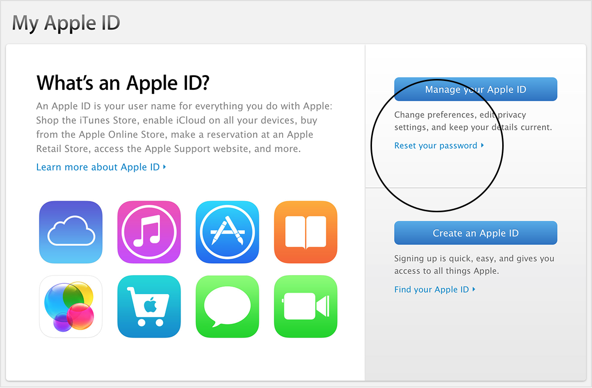 What's an Apple ID screen
