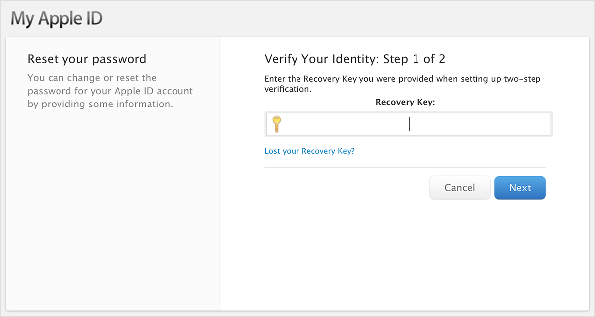 Verify Your Identity: Step 1 of 2