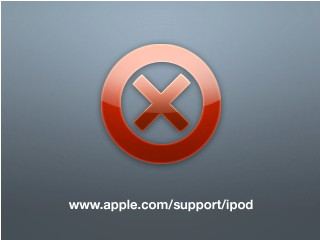 iPod red X icon