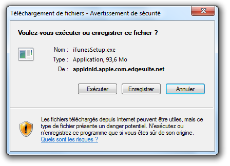 Itunes t l chargement d itunes pour windows via internet for Bloqueur de fenetre