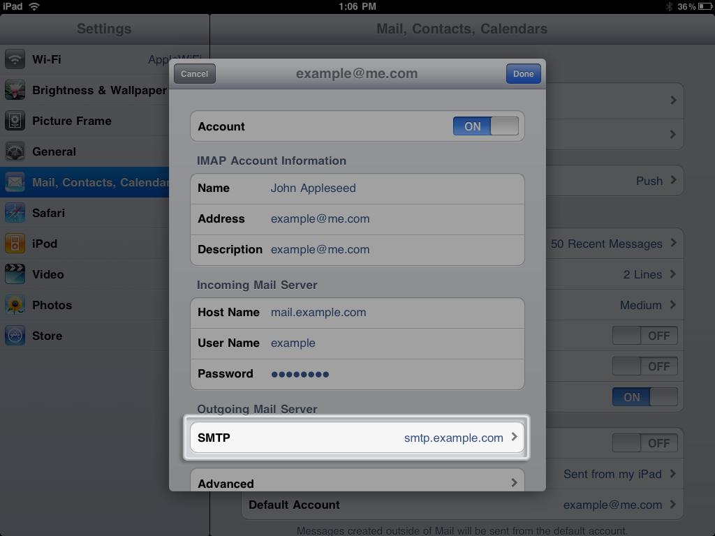Tap SMTP