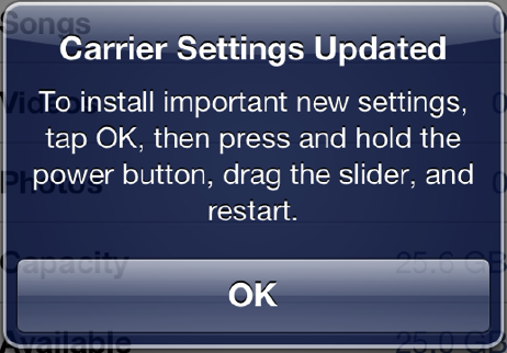 what are carrier settings for iphone iphone 5 carrier update for verizon fixes data usage issue 19529
