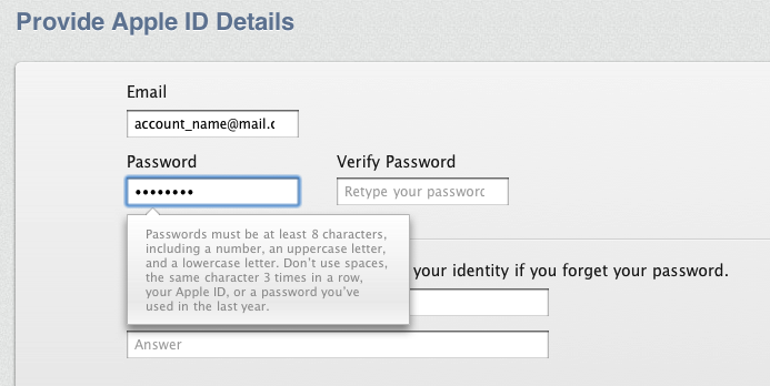 Create apple id macbook pro