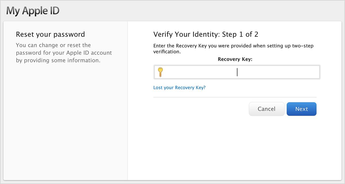 Bestätigung Ihrer Identität: Schritt 1 von 2