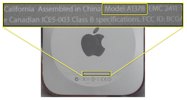 how to know apple model