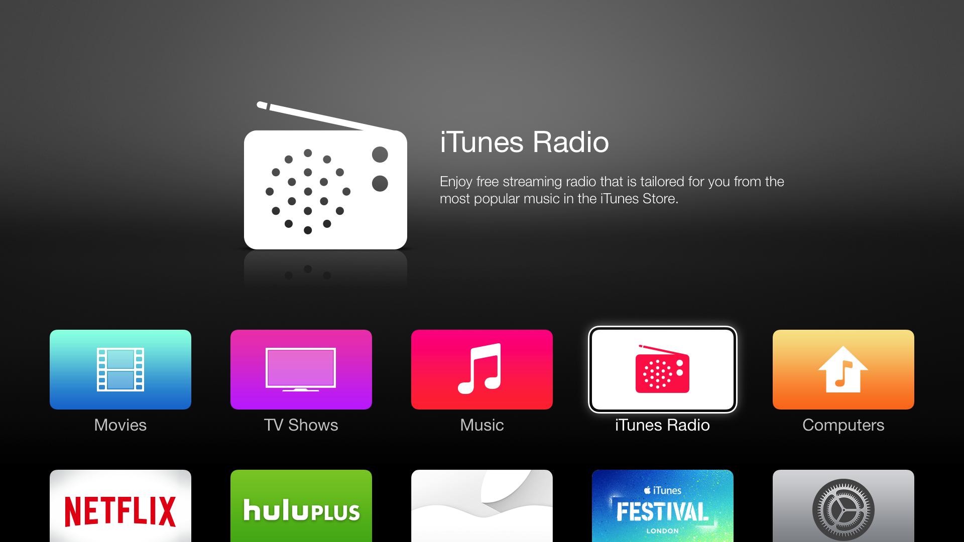 iTunes Radio on Apple TV