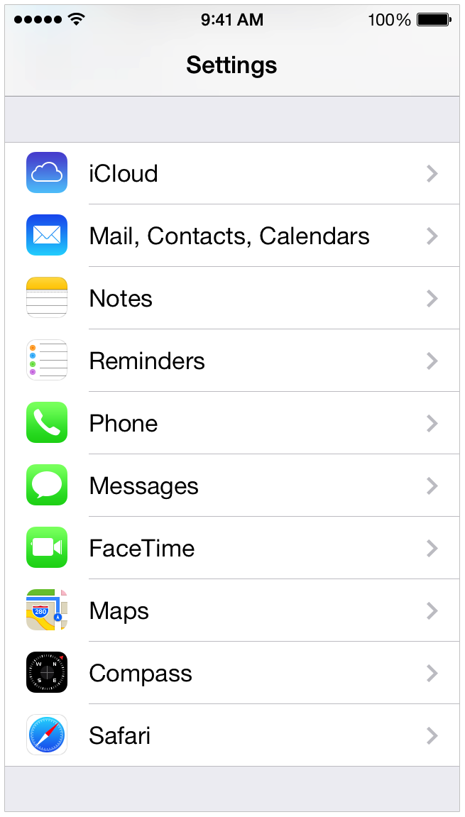how to get torch iphone settings