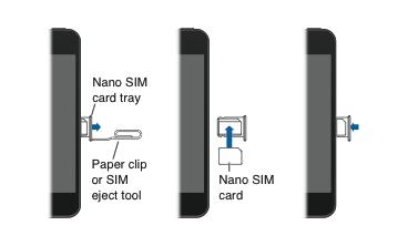 iPhone 5'teki nano SIM'i çıkarma