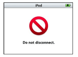iPod do not disconnect screen