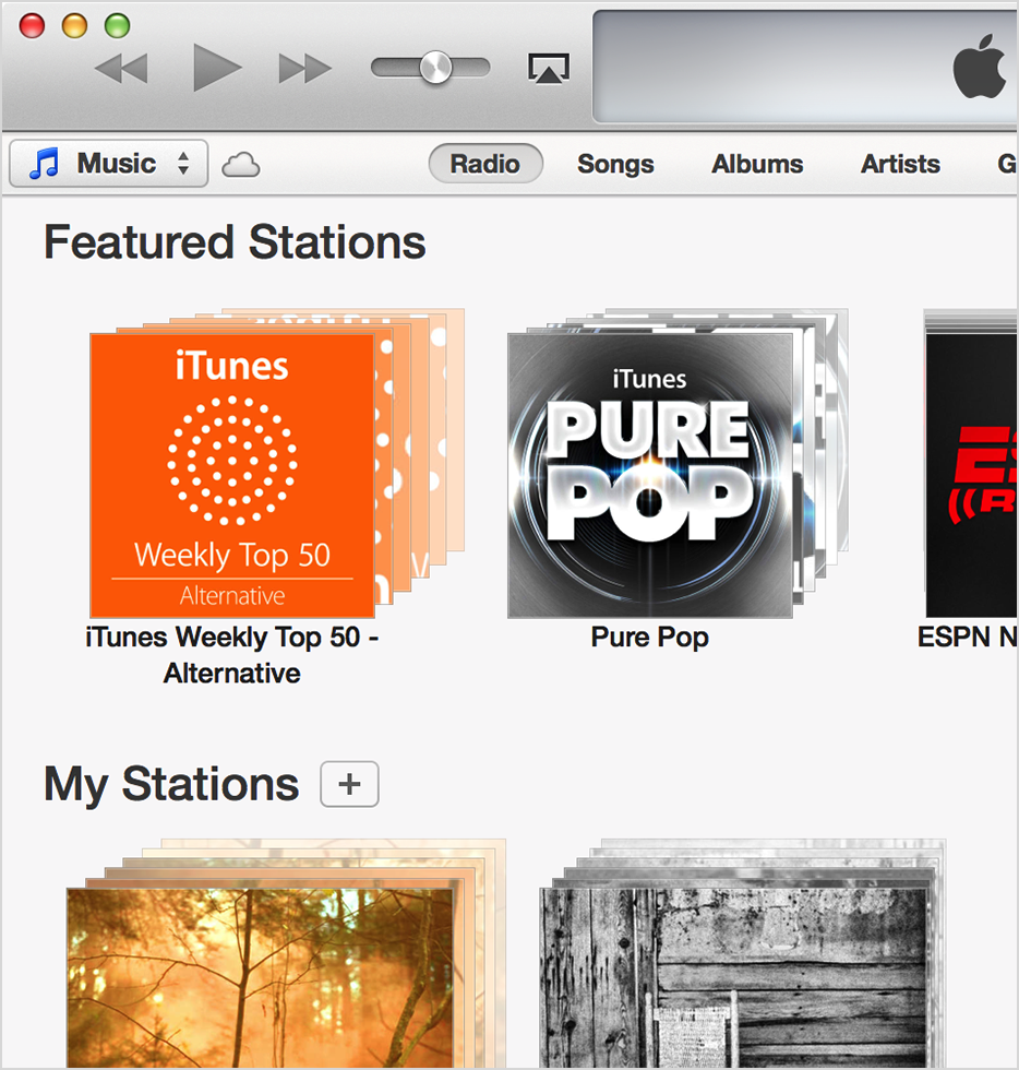 Featured stations